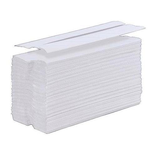 5 Star Facilities Hand Towel C-Fold One-Ply Recycled Size 230x310mm 100 Towels Per Sleeve White [Pack 24]