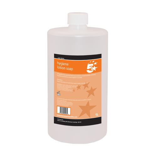 5 Star Facilities Hygiene Lotion Hand Soap 1 Litre