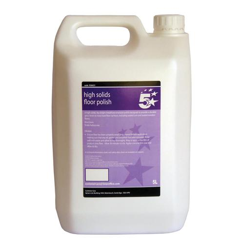 5 Star Facilities High Solids Floor Polish 5 Litres