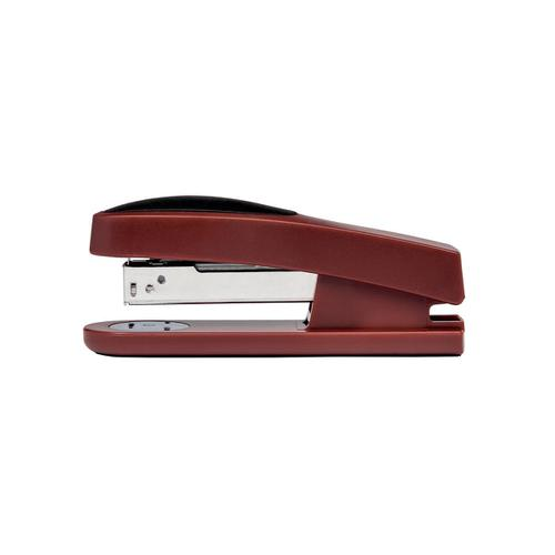5 Star Office Half Strip Stapler Top Loading Rubber Base 25 Sheet Capacity Takes 26/6 Staples Red