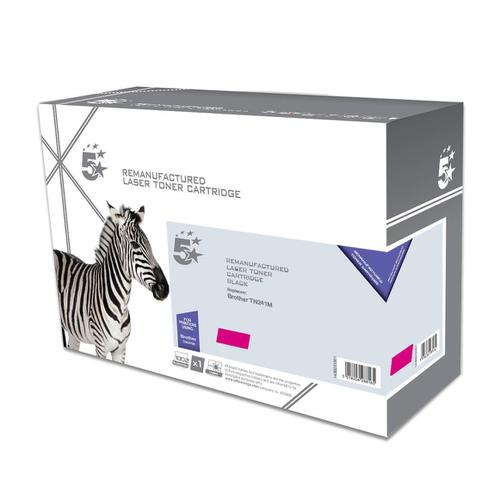 5 Star Office Remanufactured Laser Toner Cartridge Page Life 1400pp [Brother TN241M Alternative] Magenta