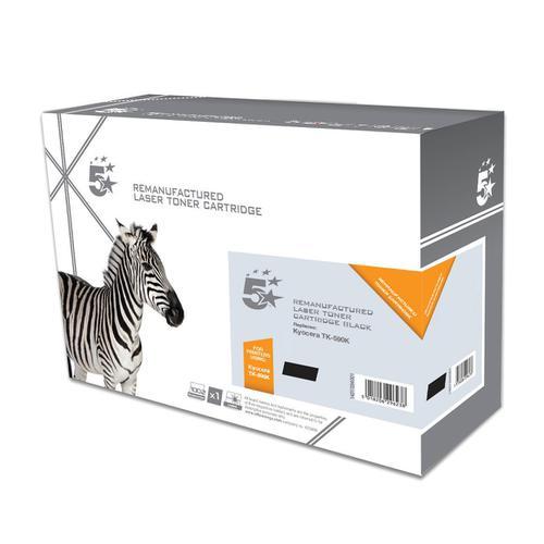 5 Star Office Remanufactured Laser Toner Cartridge Page Life 7000pp Black [Kyocera TK-590K Alternative]