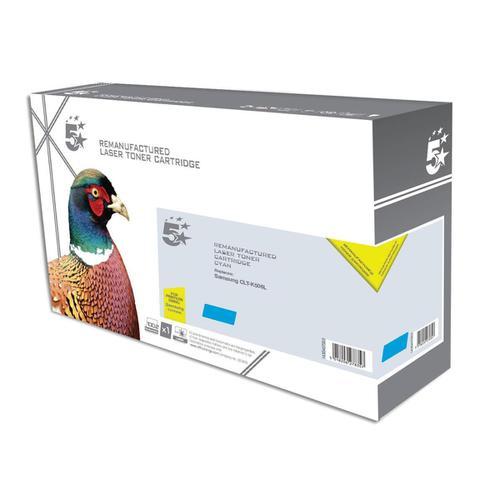 5 Star Office Reman LaserTonerCart High Yield Page Life 3500pp Cyan [Samsung CLT-C506L Alternative]
