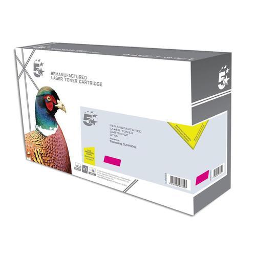 5 Star Office Reman Laser Toner Cart High Yield 3500pp Magenta [Samsung CLT-M506L SU309A Alternative]