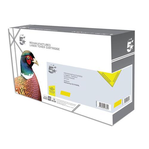 5 Star Office Reman Laser Toner Cart HY Page Life 3500pp Yellow [Samsung CLT-Y506L SU524A Alternative]