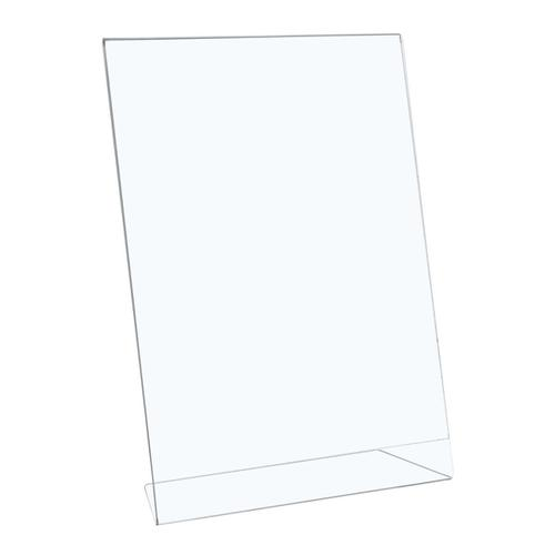 5 Star Office Sign Holder Portrait Slanted A4 Clear