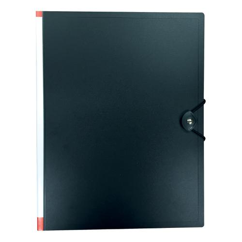 5 Star Office Display Book Hardback Cover Polypropylene 50 Pockets A4 Black