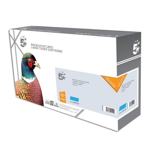 5 Star Office Remanufactured Laser Toner Cartridge Page Life2800pp Cyan [Kyocera 1T02KTCNL0 Alternative]