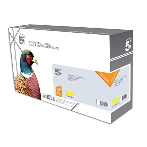5 Star Office Reman Laser Toner Cartridge Page Life 2800pp Yellow [Kyocera 1T02KTANL0 Alternative]