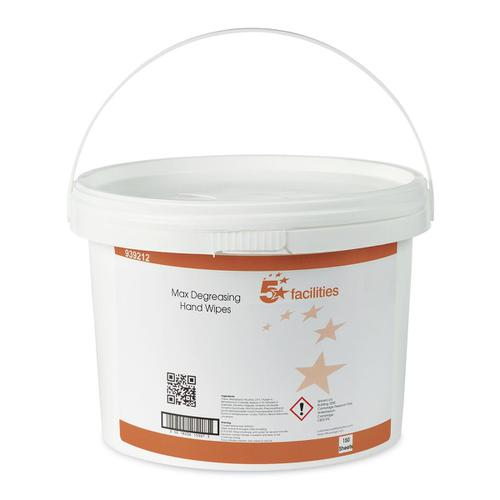 5 Star Facilities Hand & Surface Wipes Antibacterial Smooth 23gsm 280x280mm [150 Wipes]