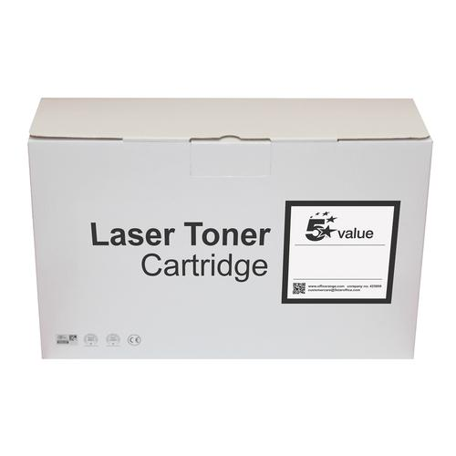 5 Star Value Remanufactured Laser Toner Cartridge 12500pp Black [HP No. 55X CE255X Alternative]