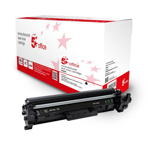 5 Star Office Remanufactured Toner Cartridge Page Life Black 1600pp [HP 17A CF217A Alternative]