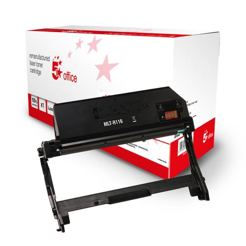 5 Star Office Remanufactured OPC Drum Page Life Black 9000pp [Samsung MLT-R116/SEE Alternative]