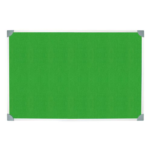 5 Star Green Felt Noticeboard 1200x900mm Aluminium Frame