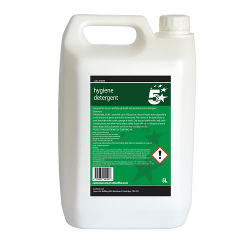 5 Star Facilities Hygiene Detergent Washing-Up Liquid 5 Litres
