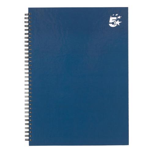 5 Star Office Twinbound Hardback A4 140Pg Indigo Ref  [Pack 5]