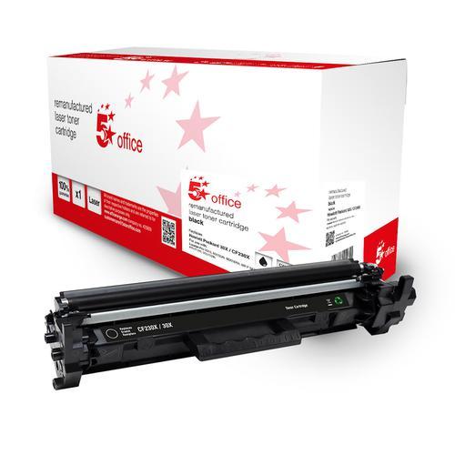 5 Star Office Remanufactured Toner Cartridge High Yield 3500pp Black [HP 30X Alternative CF230X]