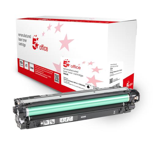 5 Star Office Remanufactured Toner Cartridge Page Life 13500pp Black [HP 651A Alternative CE340A]