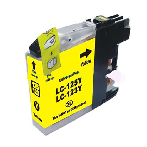 5 Star Value Remanufactured Inkjet Cartridge Page Life 600pp Yellow [Brother LC123Y Alternative]