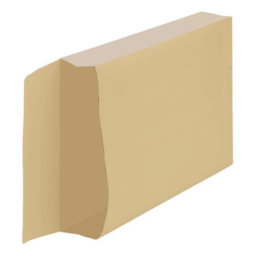 New Guardian Armour Envelopes C4 Gusset 50mm Peel And Seal 130gsm Kraft Manilla Ref  [Pack 100]