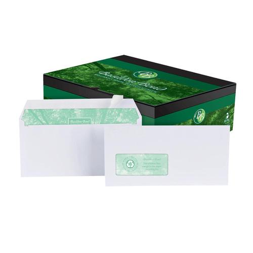 Basildon Bond Envelopes Recycled Wallet P&S Window 120gsm DL White Ref A80117 [Pack 500]