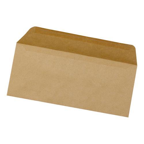5 Star Office Envelopes FSC Wallet Recycled Lightweight Gummed 75gsm DL 220x110mm Manilla [Pack 1000]
