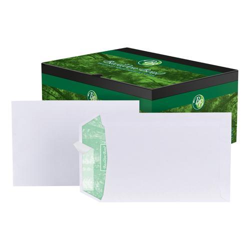 Basildon Bond Envelopes FSC Recycled Pocket Peel & Seal 120gm C5 White Ref L80118 [Pack 500]
