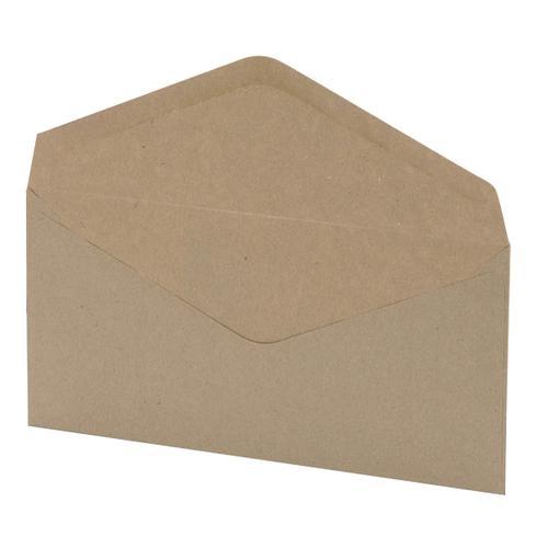 5 Star Office Envelopes FSC Wallet Recycled Lightweight Gummed Wdw 75gsm DL 220x110mm Manilla [Pack 1000]