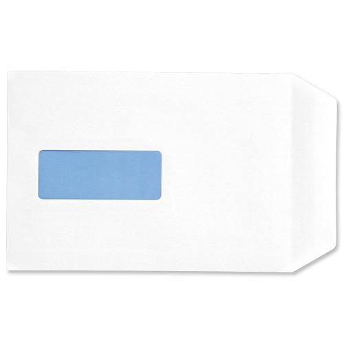 5 Star Office Envelopes PEFC Pocket Self Seal Window 90gsm C5 229x162mm White [Pack 500]