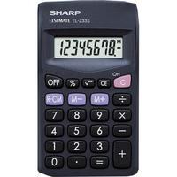 Sharp Pocket Calculator 8 Digit Display 3 Key Memory Battery Powered 60x8x103mm Black Ref EL233SBBK