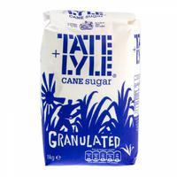 Tate & Lyle Granulated Pure Cane Sugar Bag 1kg Ref NST548