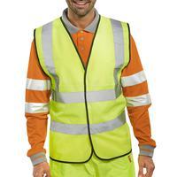 5 Star Facilities High Visibility Waistcoat Full App Medium Yellow/Black Piping