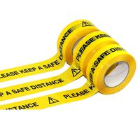 5 Star Facilities Safety Distance Tape 48mm x 66m Roll V048066