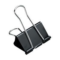 5 Star Office Foldback Clips 51mm Black [Pack 12]