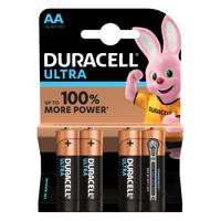 Duracell Ultra Power MX1500 Batteries AA 1.5V Ref 81235491 [Pack 4]