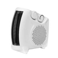 2kW Upright and Flat Fan Heater with Auto Thermostat Heat Settings White Ref HG01166