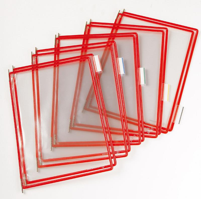 Tarifold Pivoting Display Pocket A4 Red (Pack 10)