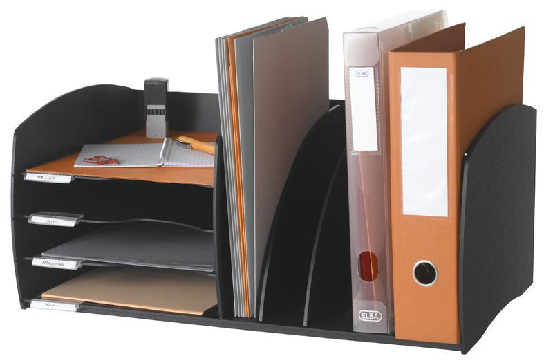 Fast Paper Desktop Organizer 4 Comp Black