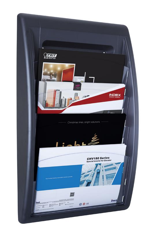Fast Paper Oversized Quick Fit Wall Display Literature Holder Black