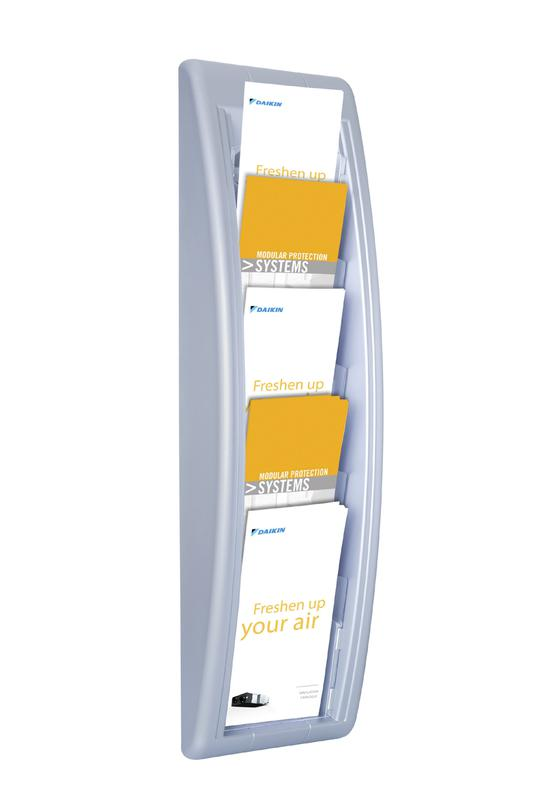 Fast Paper Quick Fit Wall Display Literature Holder DL Silver