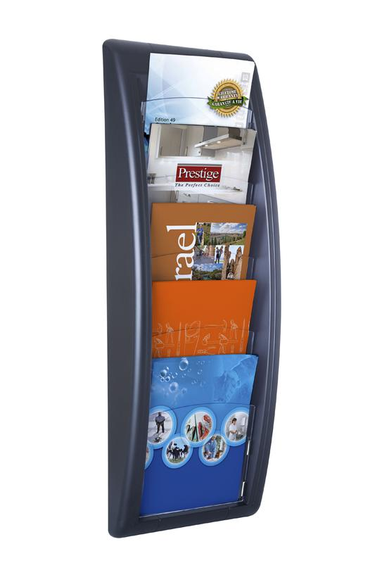 Fast Paper Quick Fit Wall Display Literature Holder A5 Black