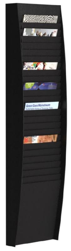 Fast Paper Document Control Panel/Literature Holder 1 x 25 Compartment A4 Black