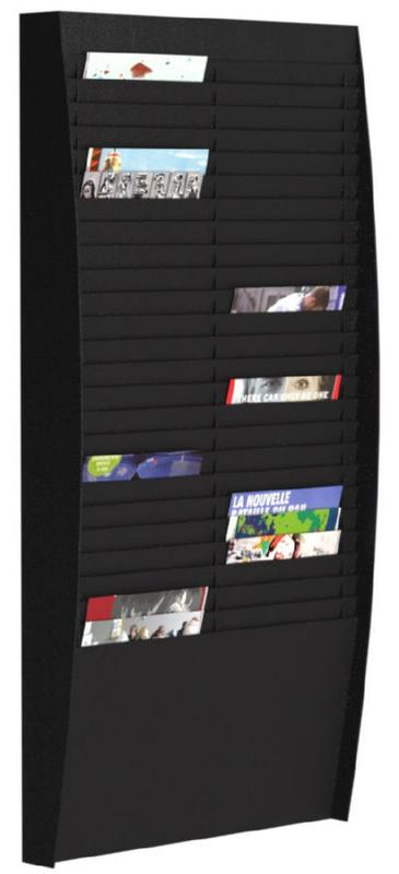 Fast Paper Document Control Panel/Literature Holder 2 x 25 Compartment A4 Black