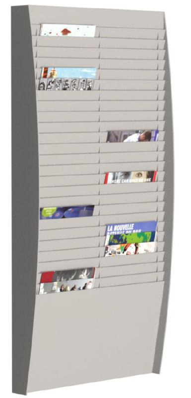 Fast Paper Document Control Panel/Literature Holder 2 x 25 Compartment A4 Grey