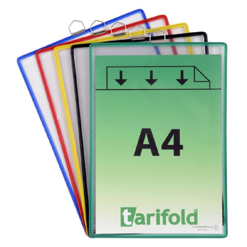 Tarifold Hanging Display Pocket A4 Assorted Colours (Pack 5)