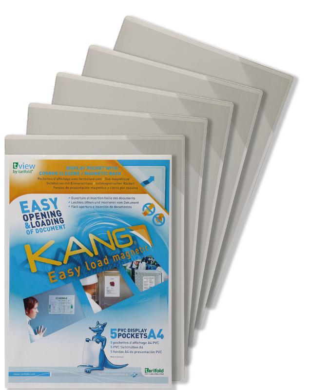 Tarifold Kang Magnetic Display Pockets A4 (Pack 5)