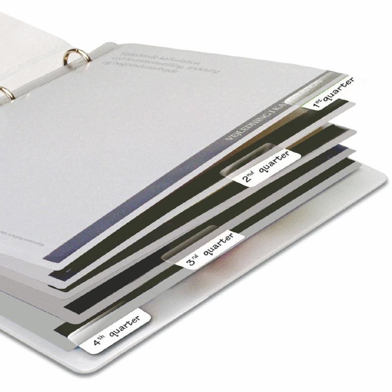 3L Index Tabs Permanent 12x25mm White (Pack 72) 10511