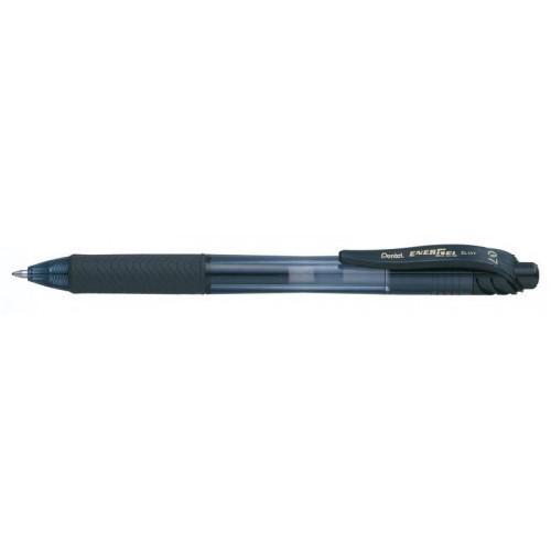 Pentel Energel X Gel Retractable 0.7mm Black PK12 with 12 Free Refills