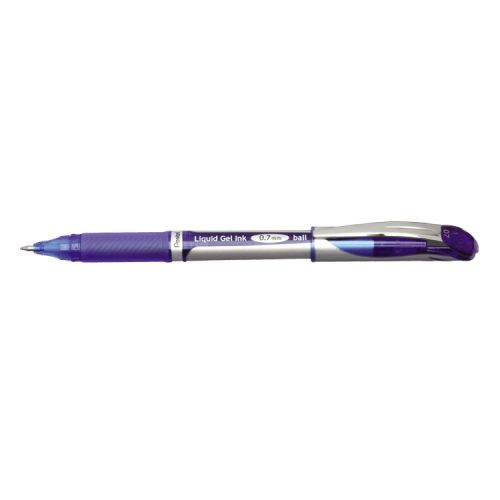 Pentel EnerGel Xm Blue Rollerball Pen (Pack of 12) BL57-C