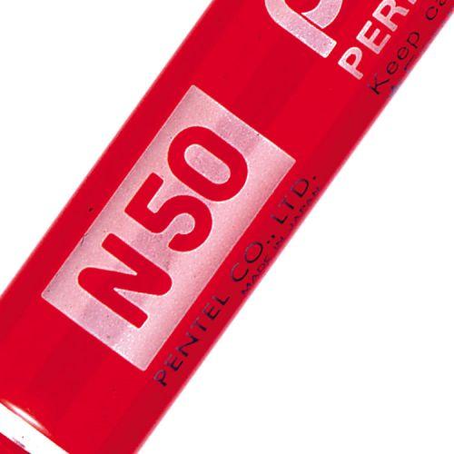 Pentel N50 Permanent Marker Bullet 4.3mm Tip 2.2mm Line Red Ref N50-B [Pack 12]